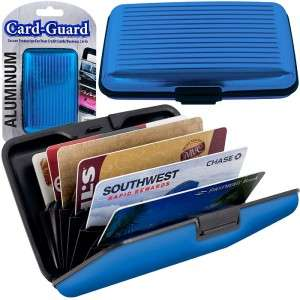 Aluminum Credit Card Wallet RFID Blocking Case 6 Colors NEW