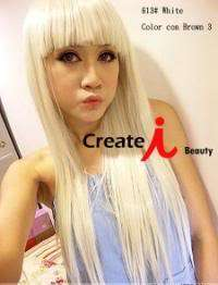 Fashion trend LADY GAGA off white hairpiece wig,100% Japan advanced