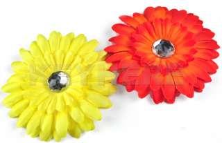New 22pcs Daisy Girl Baby Crystal Flower Hair Clip Bow