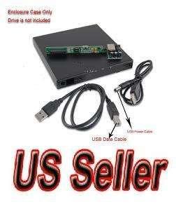 IDE PATA Laptop Notebook CD DVD RW+  ROM Drive External Case Enclosure