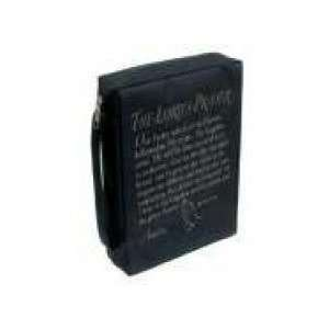 Bible Cover   Screen Print Poly Lords Prayer Medium Black