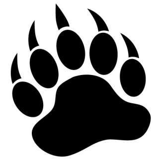 Grizzly Bear Paw Vinyl Decal Sticker