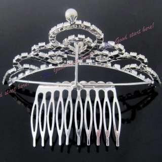 Bridal Jewelry Rhinestone Hair Accessories Crown Headband Tiaras
