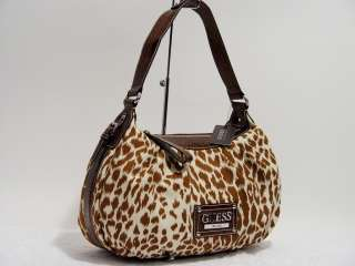 NWT GUESS Leopard Hobo Satchel Tote Bag Purse Handbag