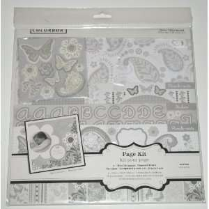 Colorbok Acid Free Scrapbooking Page Kit  Classic Paisley