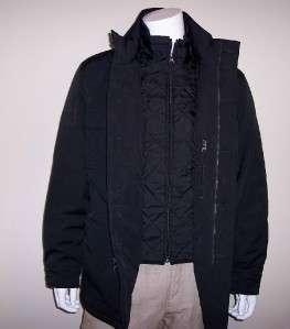 NWT Men Nautica Black Water Resistant Medium Durable Jacket Coat 2274
