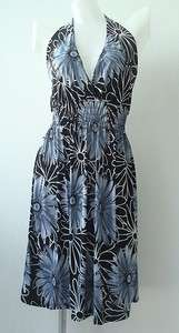 Summer Flower Boho Retro Halter Mini Dress Womens S XL