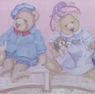 Childrens Wallpaper Border Teddy Bears Dress up Wall