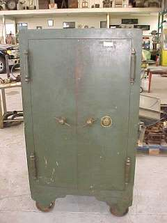 ANTIQUE SAFE MADE BY THE HALLS SAFE & LOCK CO, 1885, 2 COMBINATIONS,1