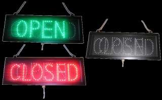 Open Closed Led Lighted Sign Window Display Animated Flash Motion Neon