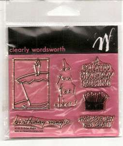 Clear Acrylic Stamps Birthday Christmas or Alphabet Free Ship
