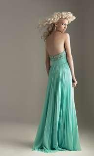 Long elegant Strapless Pleated Evening Prom Dress