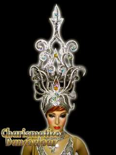 SILVER QUEEN Drag Pageant CABARET CRYSTAL HEADDRESS