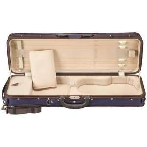 Shar SL Super Light Oblong Violin Case Blue Exterior Sand