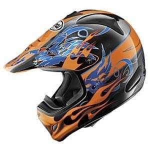 Arai VX Pro III Wing Flame Helmet   Small/Orange