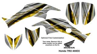 Honda TRX 400EX ATV Graphics Decals Kit 1400 Yellow