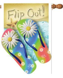 Flip Out Summer Flip Flops Beach Large Flag