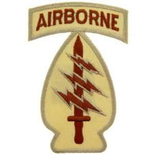 U.S. Army Airborne Special Forces Patch Brown 3 Patio