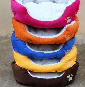 Colors Pets Dog Cat Puppy Kitten Soft Fleece Bed House Nest Pad Mat
