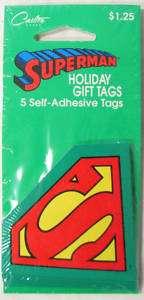 Superman Logo Holiday Gift Tags/Carlton Cards/DC Comics