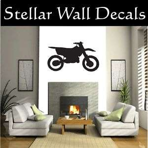 Dirt Bike Moto Wall Car Vinyl Decal Sticker Sst010 HUGE