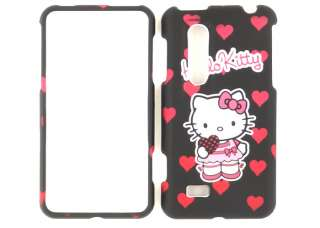 Kitty Black Faceplate Cover Case For AT&T LG Thrill 4G Optimus 3D