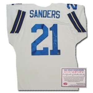 Deion Sanders Autographed/Hand Signed Custom White Jersey