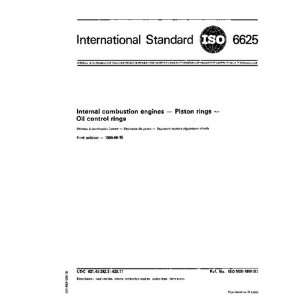 engines   Piston rings   Oil control rings ISO TC 22/WG 1 Books