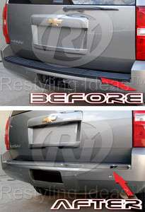 2007 2011 Chevy Tahoe Suburban Yukon Stainless Steel Rear Bumper Trim