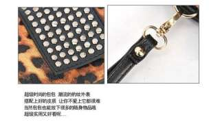 Fashion Design Leopard Grain PU Leather Bag Wallet Evening Handbag