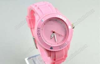 New 5 Colors Fashion Silicone Quartz Heart Love Jelly Watch