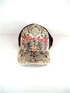 Miami Ink Trucker Cap, Black w/ Tattoo design, NWT
