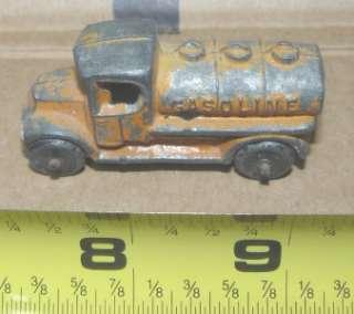 Tootsie toy, orange Mack truck tanker |