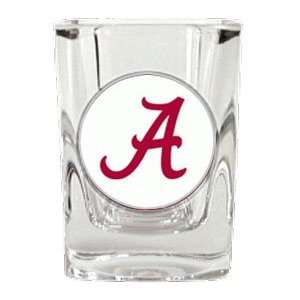 Alabama Crimson Tide UA NCAA Square Shot Glass 2 Oz. Sports
