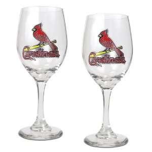 BSS   St. Louis Cardinals MLB 2pc Wine Glass Set   Primary