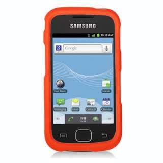 For U.S. Cellular Samsung Repp R680 Orange Hard Rubber Faceplate Cover
