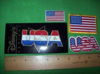 USA American Flag LOT 4 Motorcycle Biker Jacket Patches