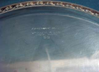Rogers Mfg,Silver Plate Tupperware Rose Round Tray 1955