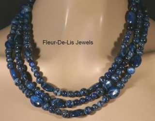 Jay King MINE FINDS Blue Spider Web Necklace Sterling Silver