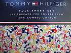 TOMMY HILFIGER~VINTAGE FLORAL~4 PIECE FULL SHEET SET~NEW