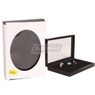 Fashion Jewelry Rings Show Case Organizer Box Display 36 Slots black
