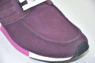 Adidas Silver SLVR Hi Top Nubuck Dark Purple Sneakers Shoes Boots US 6
