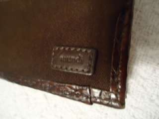 classic mundi brown weaved leather checkbook womens wallet