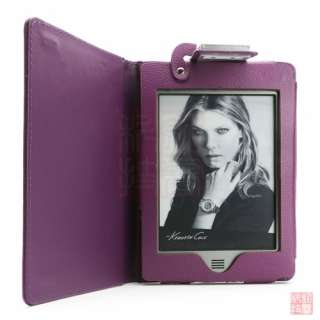 Case Cover w/ LED Reading Light for  Kindle Touch, Purple
