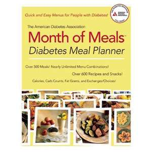 Month of Meals Diabetes Meal Planner, American Diabetes