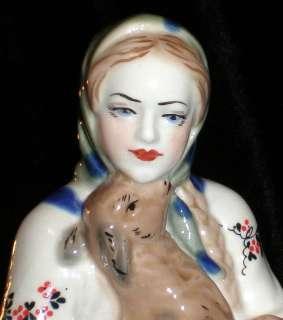 Vintage Russian Tale Soviet Porcelain Figurine Sculpture Alyonushka