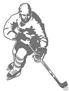 Hockey Forward Boys Kids Room Wall Art Decor Decal New