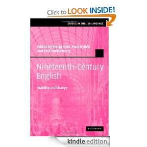 Nineteenth Century English (Studies in English Language) Kyto/Ryden