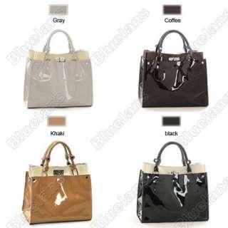 Simple Atmospheric Full Genuine Cowhide Leather Tote Bag Shoulder Bag