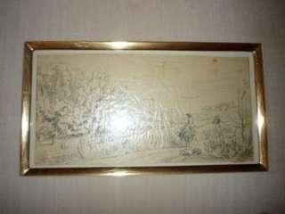 DAUBIGNY SPRINGTIME SPRING 1857 SKETCH DRAWING STUDY ART LE PRINTEMPS